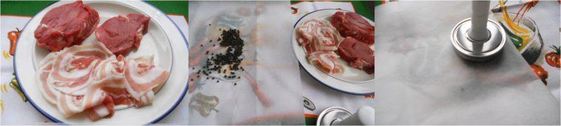 ricetta passo passo steak al pepe rosa e nero1