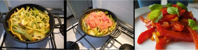 ricetta passo passo peperonata 2