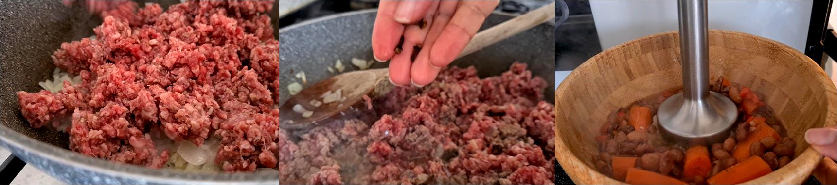 ricetta passo passo frijoles con chili 4