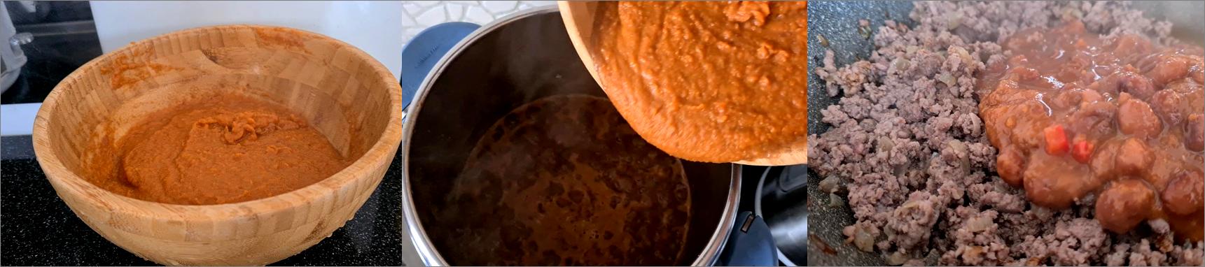 ricetta passo passo frijoles con chili 5
