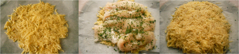 ricetta passo passo di filetto di branzino in crosta di patate 3