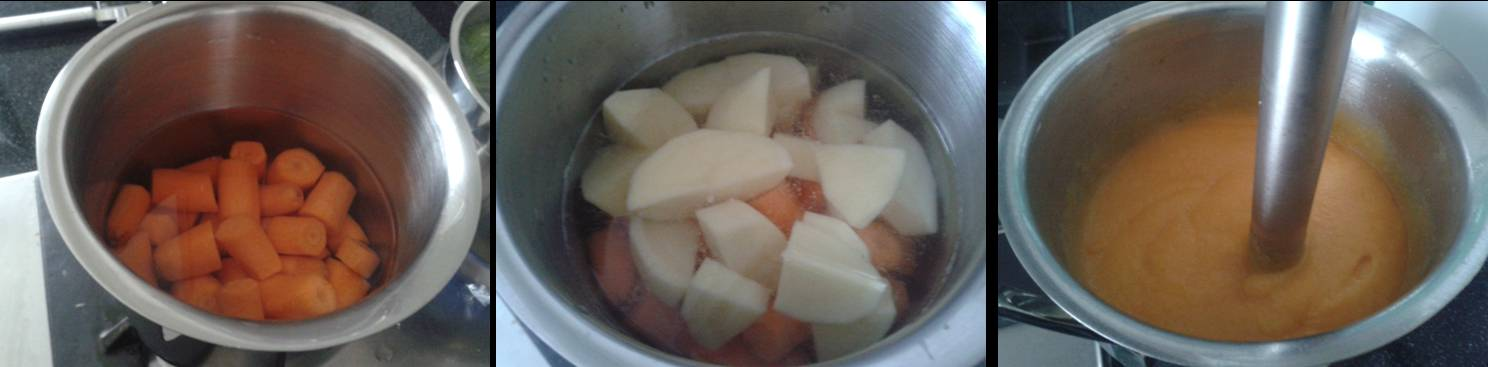 ricetta passo passo vellutata di carote 2