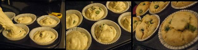 ricetta passo passo muffin con asparagi e ricotta 5