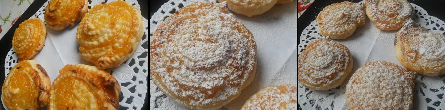 ricetta passo passo rosette di pasta sfoglia con marmellata d'arance 3