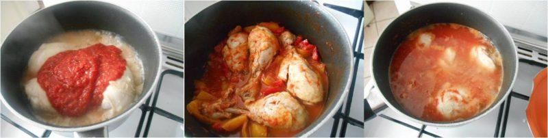 ricetta pollo con peperoni passo passo 2