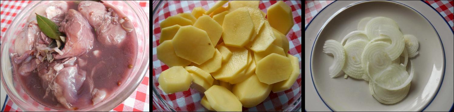 coniglio con le patate