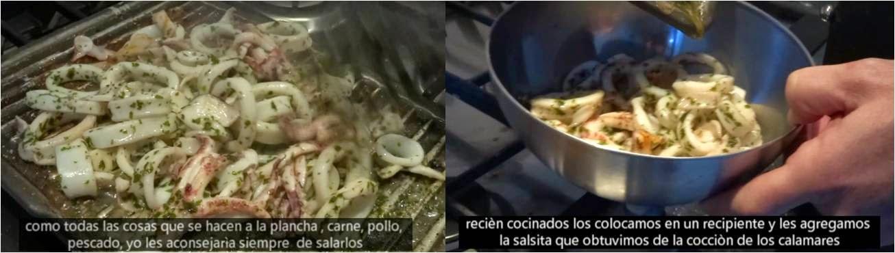 ricetta passo passo calamare ai ferri 5