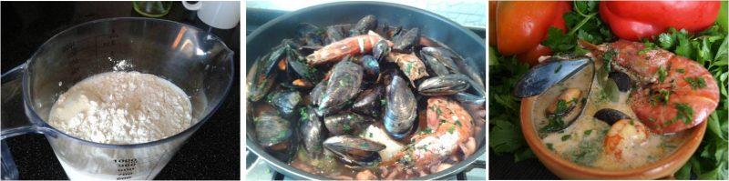 ricetta passo passo zuppa di pesce 6
