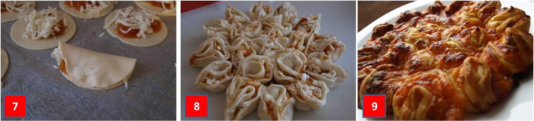ricetta pasta sfoglia con pomodoro e mozzarella passo passo