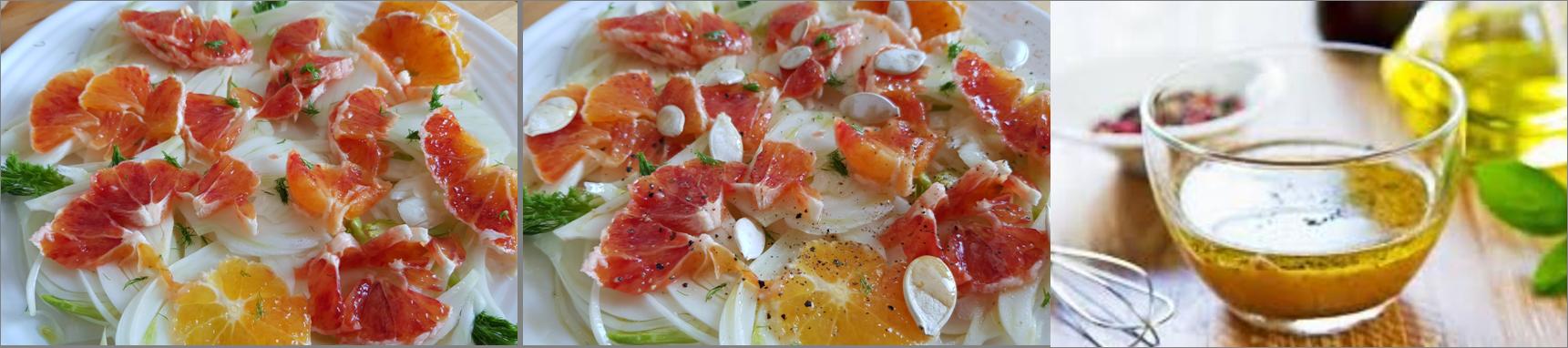 ricetta passo passo insalata di finocchi e arance