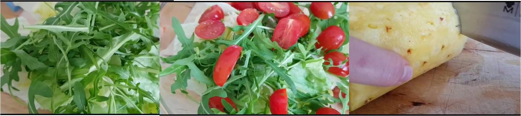 ricetta passo passo insalata di ananas e pomdorini 2