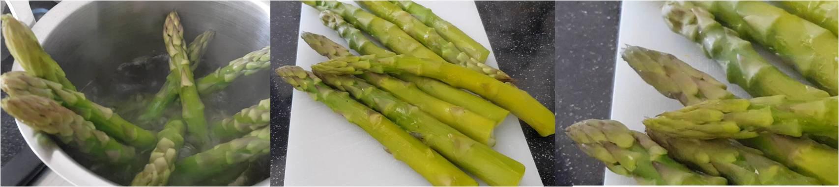 ricetta passo passo uova fritte con asparagi 1