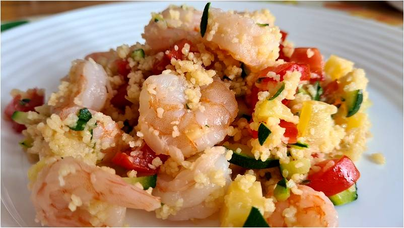 COUS COUS CON I GAMBERI