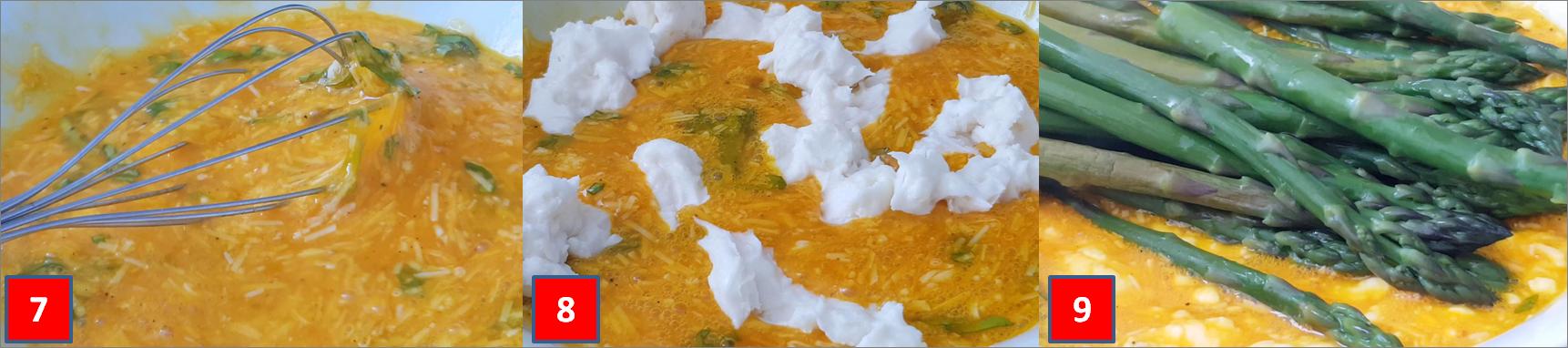 Ricetta passo passo torta salata di asparagi e crescenza2