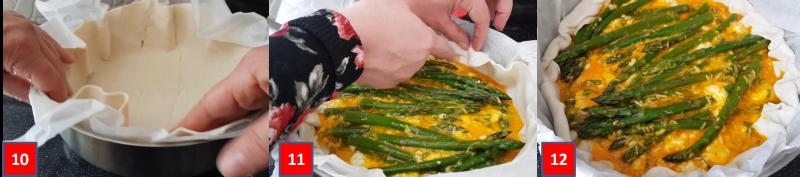 Ricetta passo passo torta salata di asparagi e crescenza3