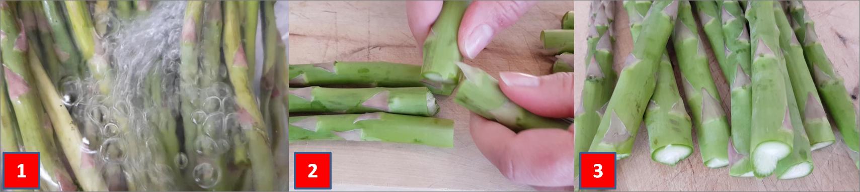 ricetta passo passo frittatine di asparagi 1
