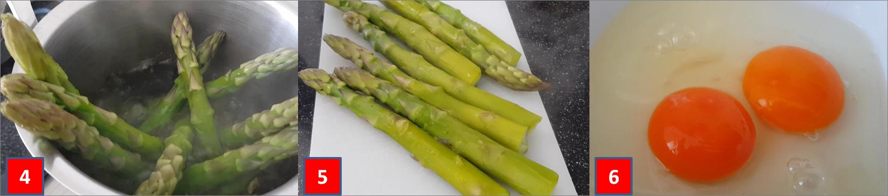 ricetta passo passo frittatine di asparagi 2