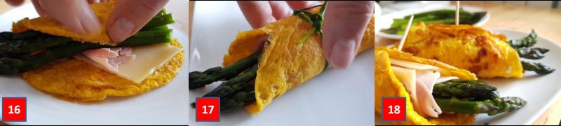 ricetta passo passo frittatine di asparagi 6