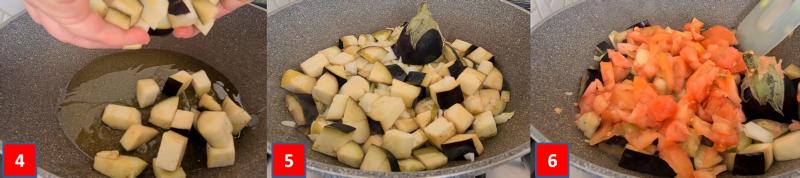 ricetta passo passo fusilli con melanzane 2