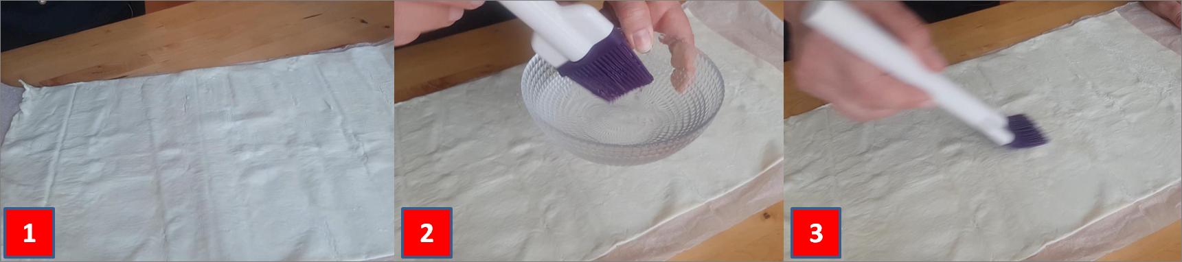 ricetta passo passo ventagli di pasta sfoglia 1