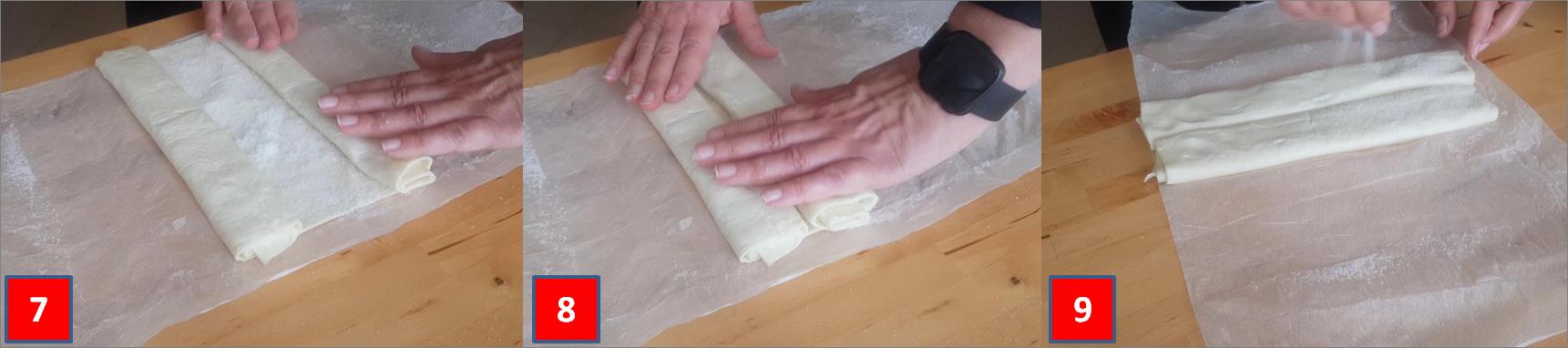 ricetta passo passo ventagli di pasta sfoglia 3