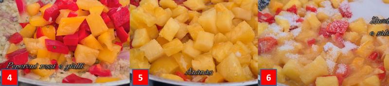 ricetta passo passo lonza di maiale in agrodolce all'ananas 2