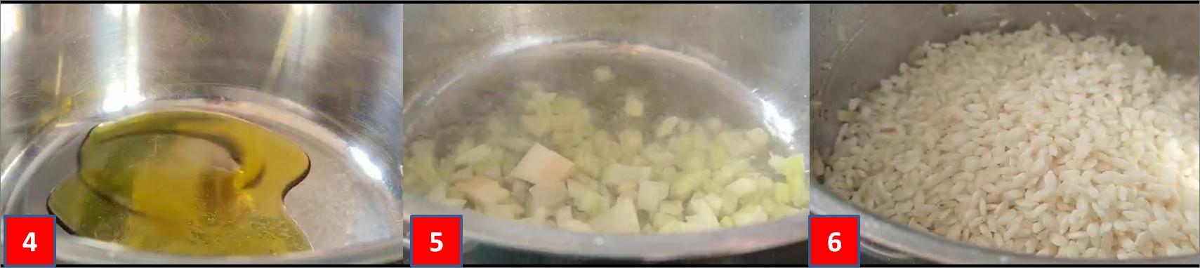 ricetta passo passo risotto alla carbonara2