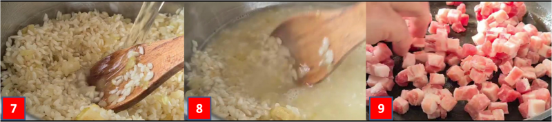 ricetta passo passo risotto alla carbonara3