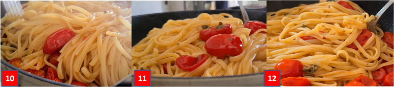 ricetta passo passo tagliolini con datterini e capperi4