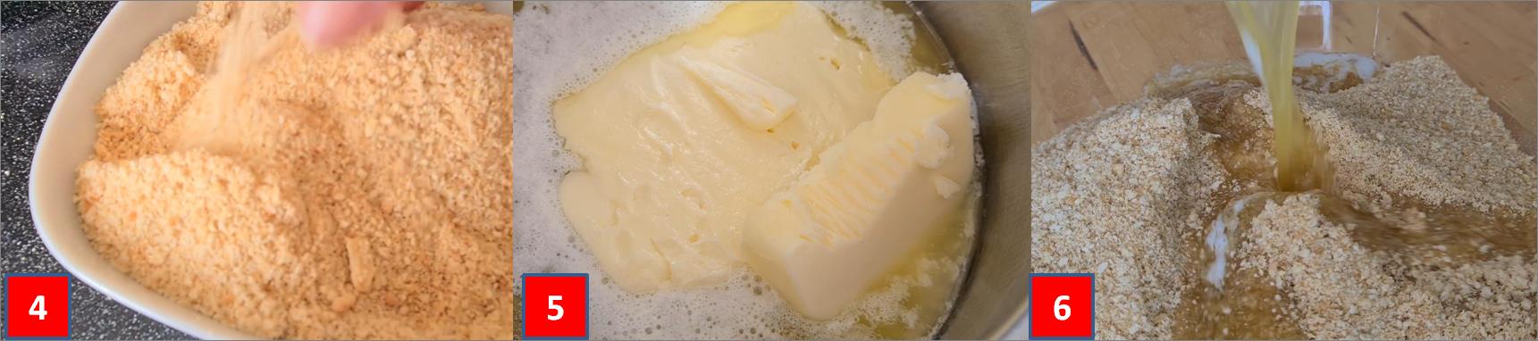 passaggio passo passo cheesecake al salmone 2