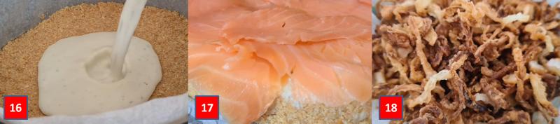 passaggio passo passo cheesecake al salmone 6