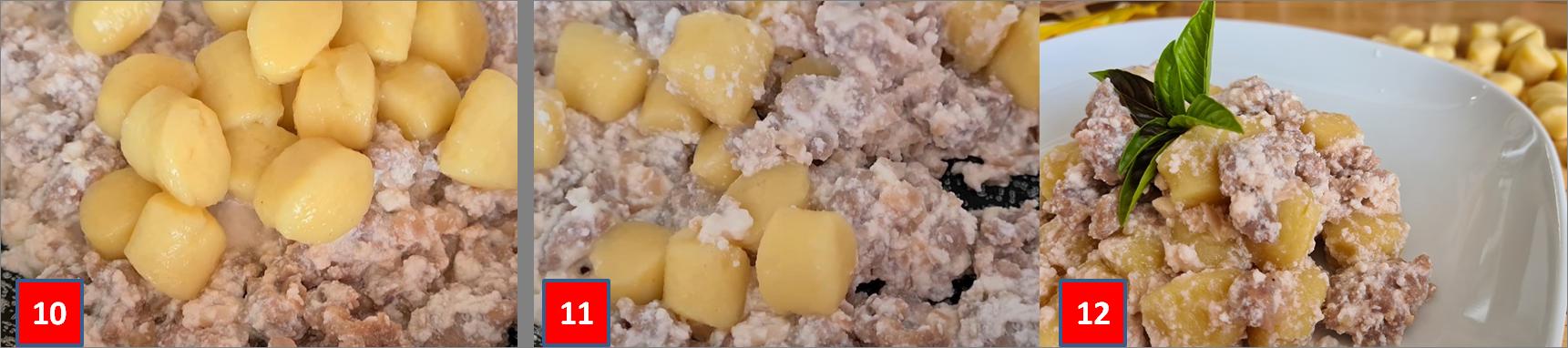 ricetta passo passo di gnocchi con ragu di salsiccia e ricotta 1