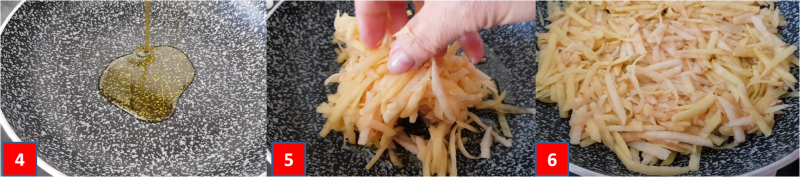 ricetta passo passo pescespada in letto di patate e mela 2