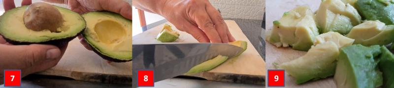 ricetta passo passo tartare di salmone e avocado 2