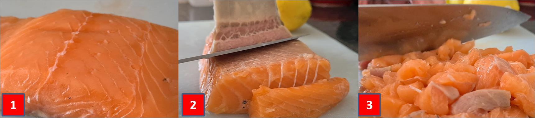 ricetta passo passo tartare di salmone e avocado
