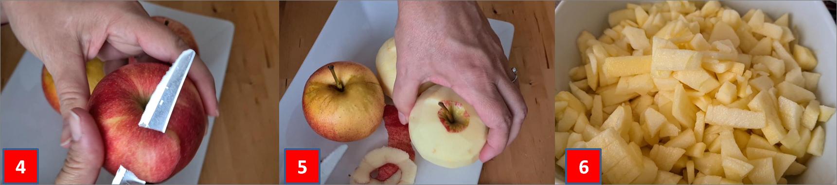 ricetta passo passo cestini di pasta sfoglia con mele e avena 1