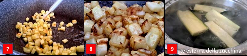 ricetta passo passo spaghetti integrali con pesto di zucchine