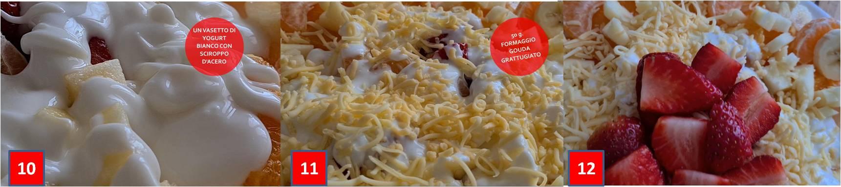 ricetta insalata di frutta con yogurt e gouda